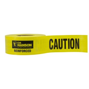 500' Reinforced Caution Barricade Tape, Yellow, 5 mil, Price per Box of 8 Rolls