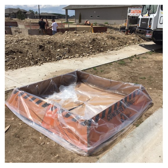 Outpak Washout 6' x 6' Corrugated Washout, Price Per Pallet of 30
