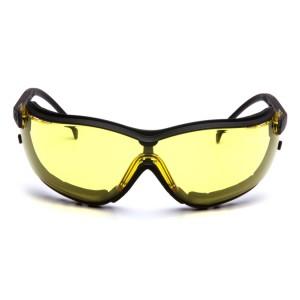 e103d7a1640 Pyramex Safety - V2G - Black Frame Amber Anti-Fog Lens