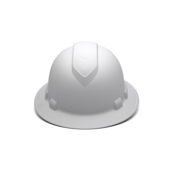 Pyramex Safety - Ridgeline Full Brim Hard Hat -White Graphite Pattern -Ridgeline Full Brim 4 Pt Ratchet Suspension, Price per Box of 12