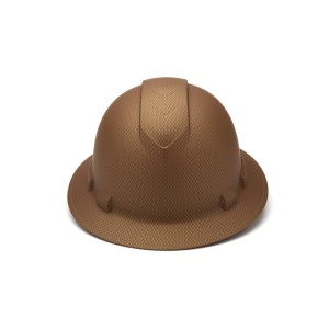 Pyramex Safety - Ridgeline Full Brim Hard Hat - Copper-Ridgeline Full Brim 4 Pt Ratchet Suspension, Price per Box of 12