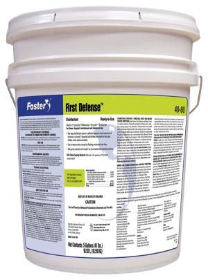 COVID-19 Surface Disinfectant, Foster First Defense, Price per 5-Gallon Pail