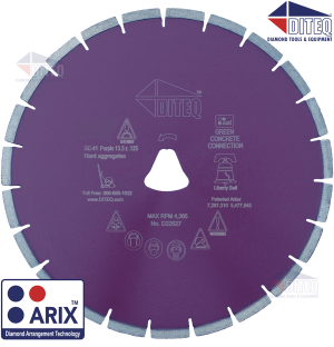 "Diamond Blade, Purple Liberty Bell, Diteq, 12""x .125,"" 12125, Price per 12 Blades"