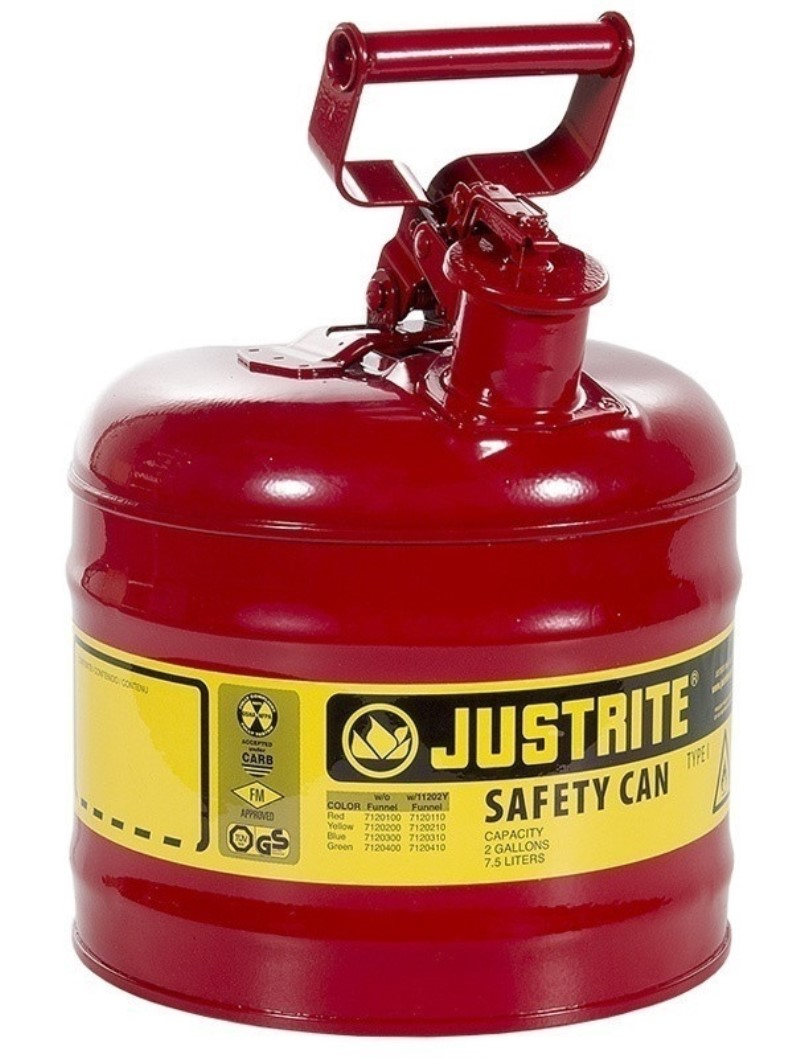Safety Gas Can >> Safety Gas Can Justrite 2 Gallon