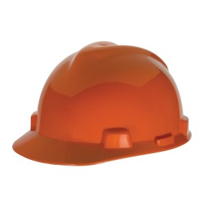 MSA V-Gard Standard Slotted Cap w/ Fas-Trac Suspension, Orange, 475361MSA