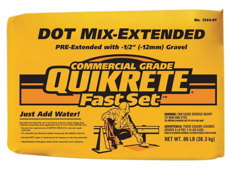 Fastset Dot Extended Quikrete 80lb Bag 21 73 Order Now At Outpost Construction Supply