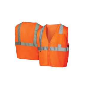 Pyramex Safety - Safety Vest - Hi-Vis Orange - Size Large, Pricer per Box of 5