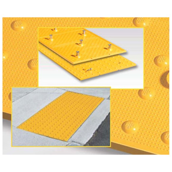 "American Made, Replacable Truncated Dome Tile, ADA Tiles, 24"" x 24"", Federal Yellow, Price per Tile"